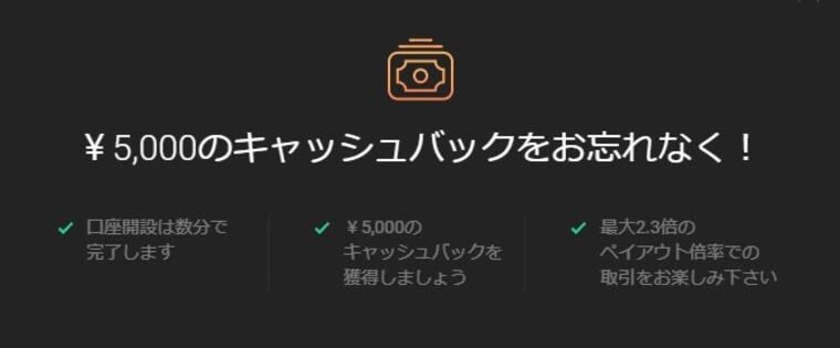 ハイローオーストラリアの五千円キャッシュバックを出金する