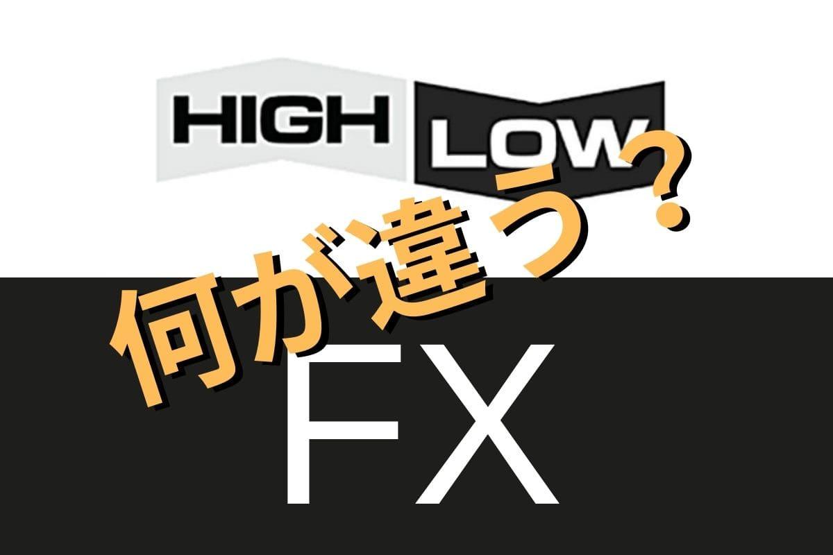 FXとハイローの違いとは?投資初心者が本当に稼げるのはどっち?